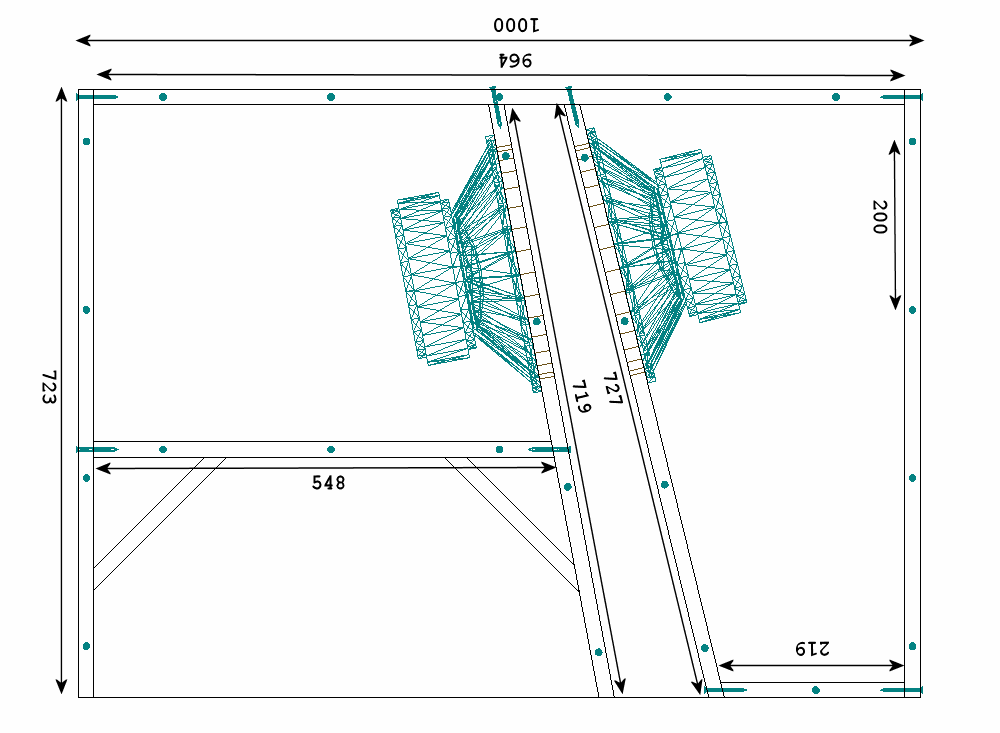A schematic of the first section