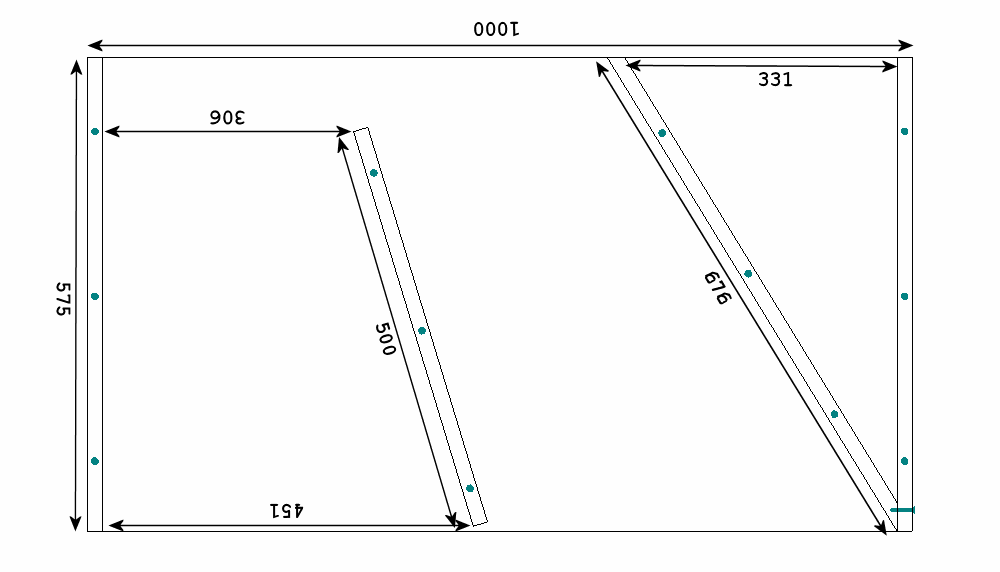 A schematic of the third section