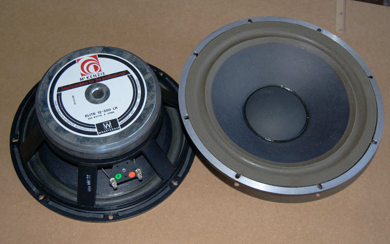 "A pair of 12"" woofers"